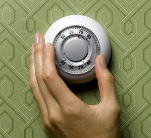 image of a thermostat adjustment